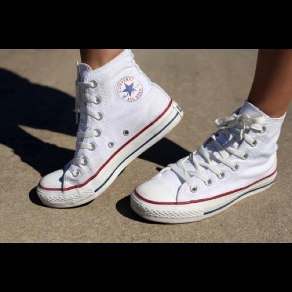 Converse Shoes - White High Top Converse ecd4c1135